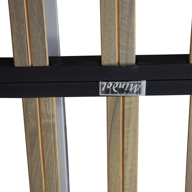 Walnut Float Platform Queen Bed Frame