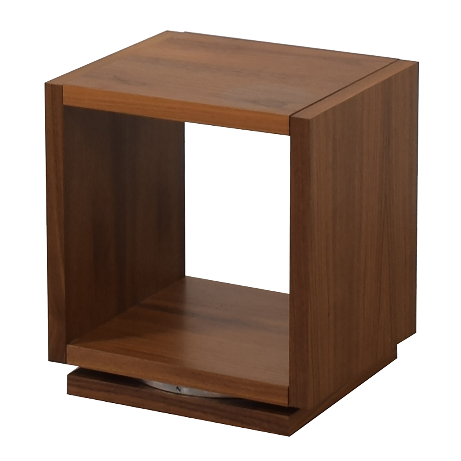 Walnut Swivel End Table Tables