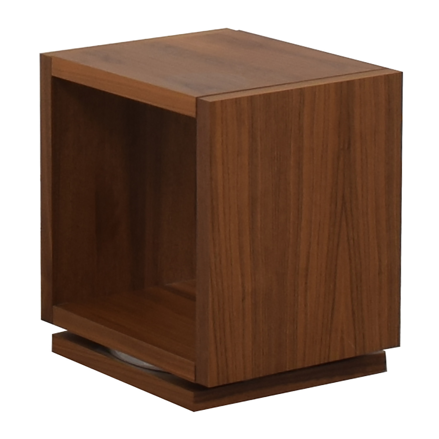 Walnut Swivel End Table second hand