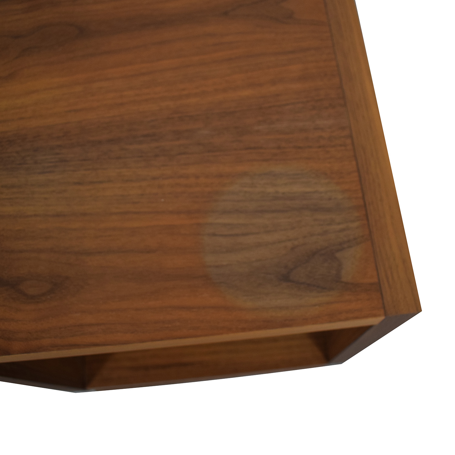 Walnut Swivel End Table / End Tables