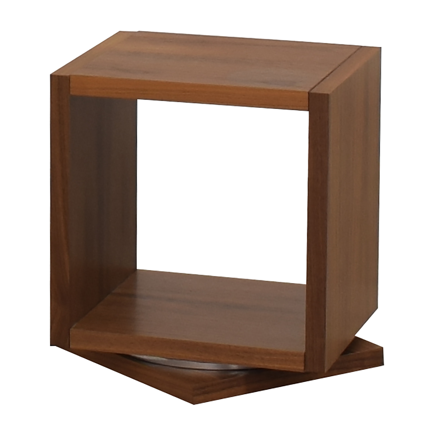 Walnut Swivel End Table used