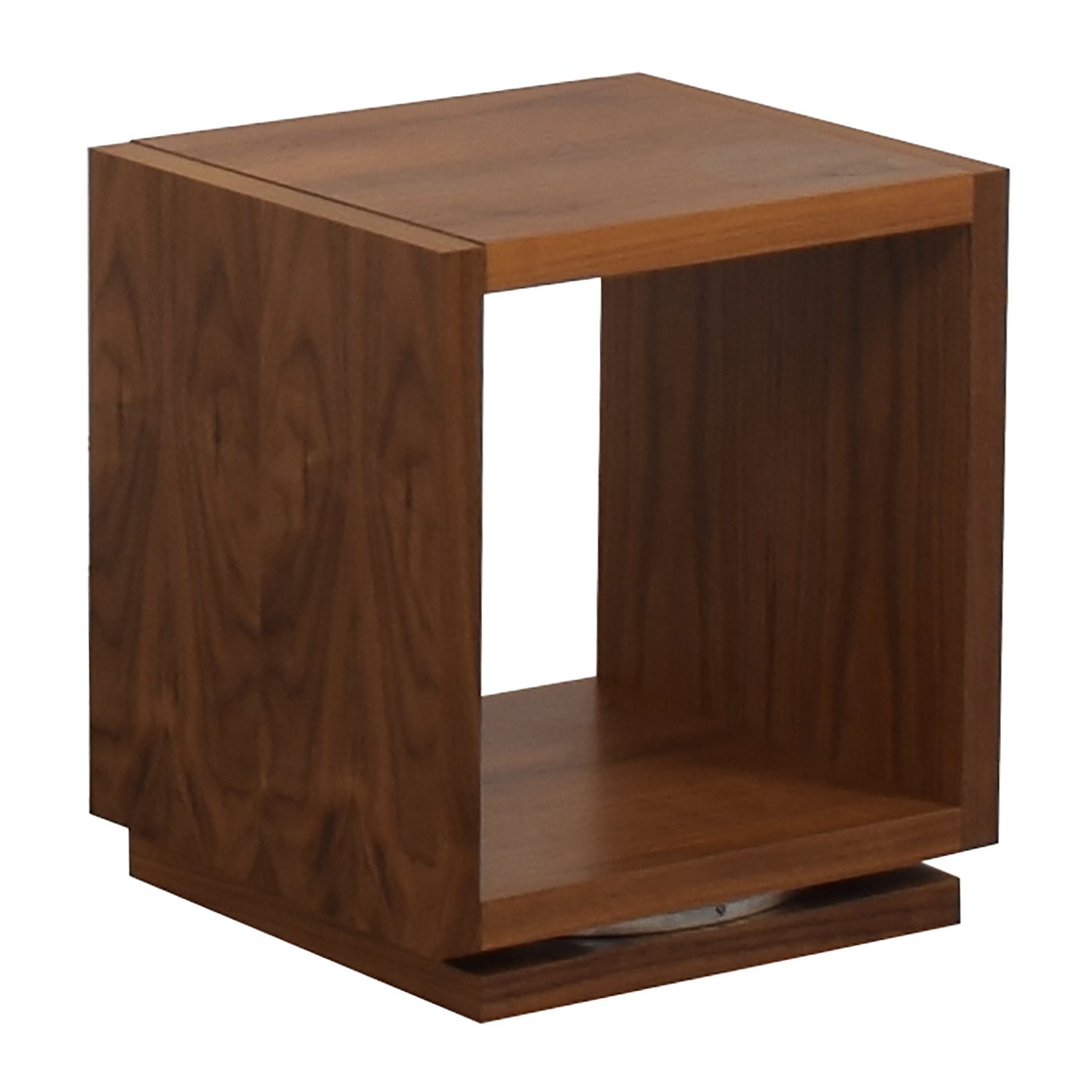 shop Walnut Swivel End Table  End Tables