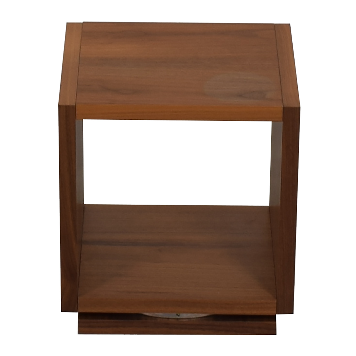 Walnut Swivel End Table nj