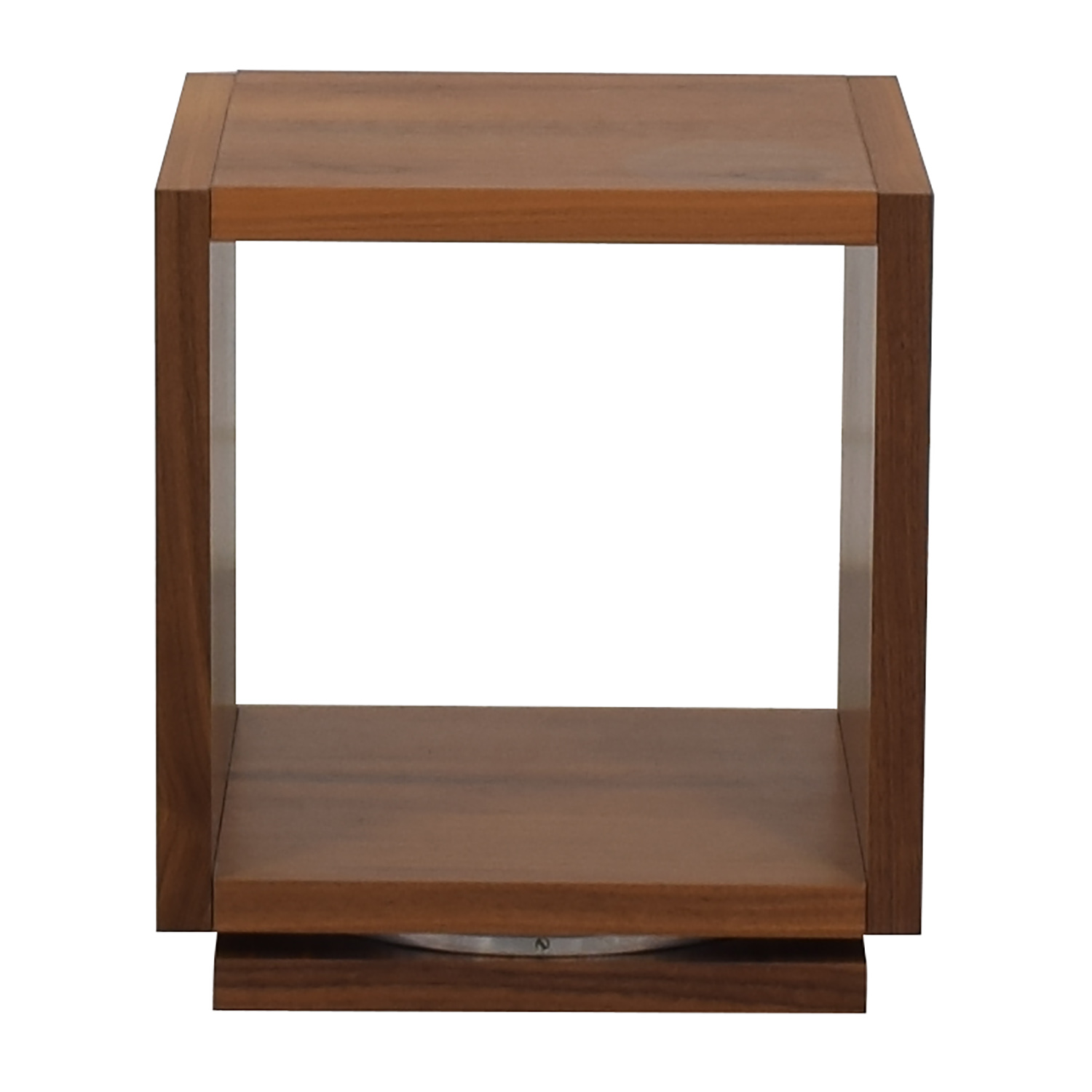 Walnut Swivel End Table