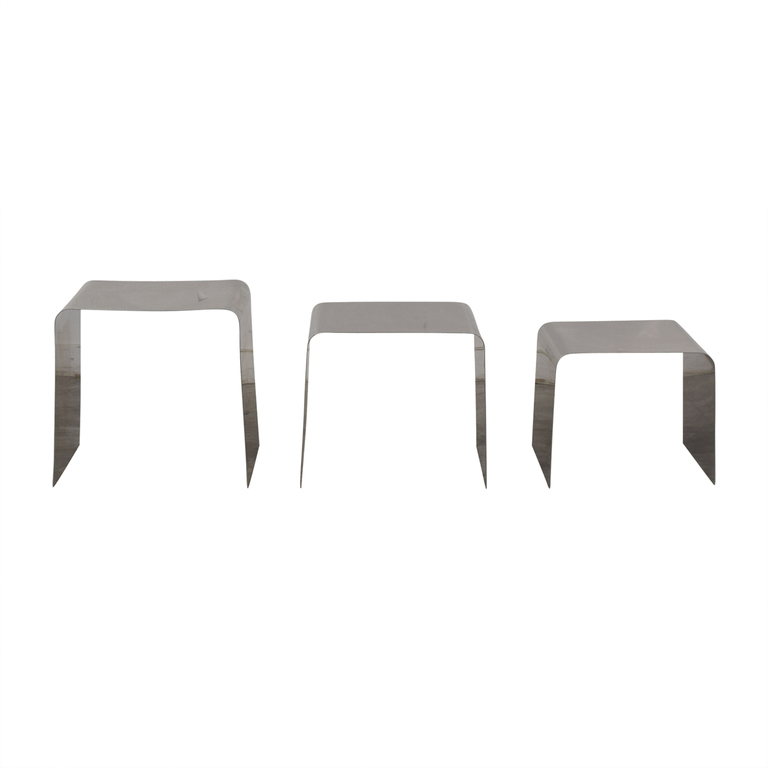 Metal Nesting Tables dimensions