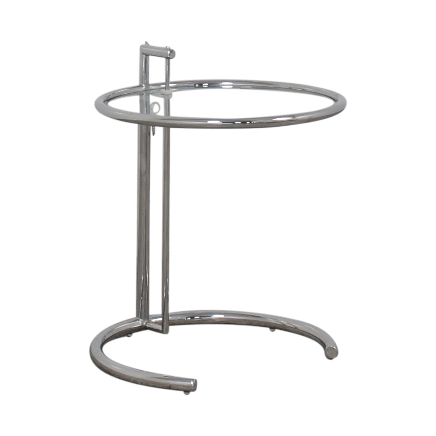 Glass and Chrome Round Side Table nyc