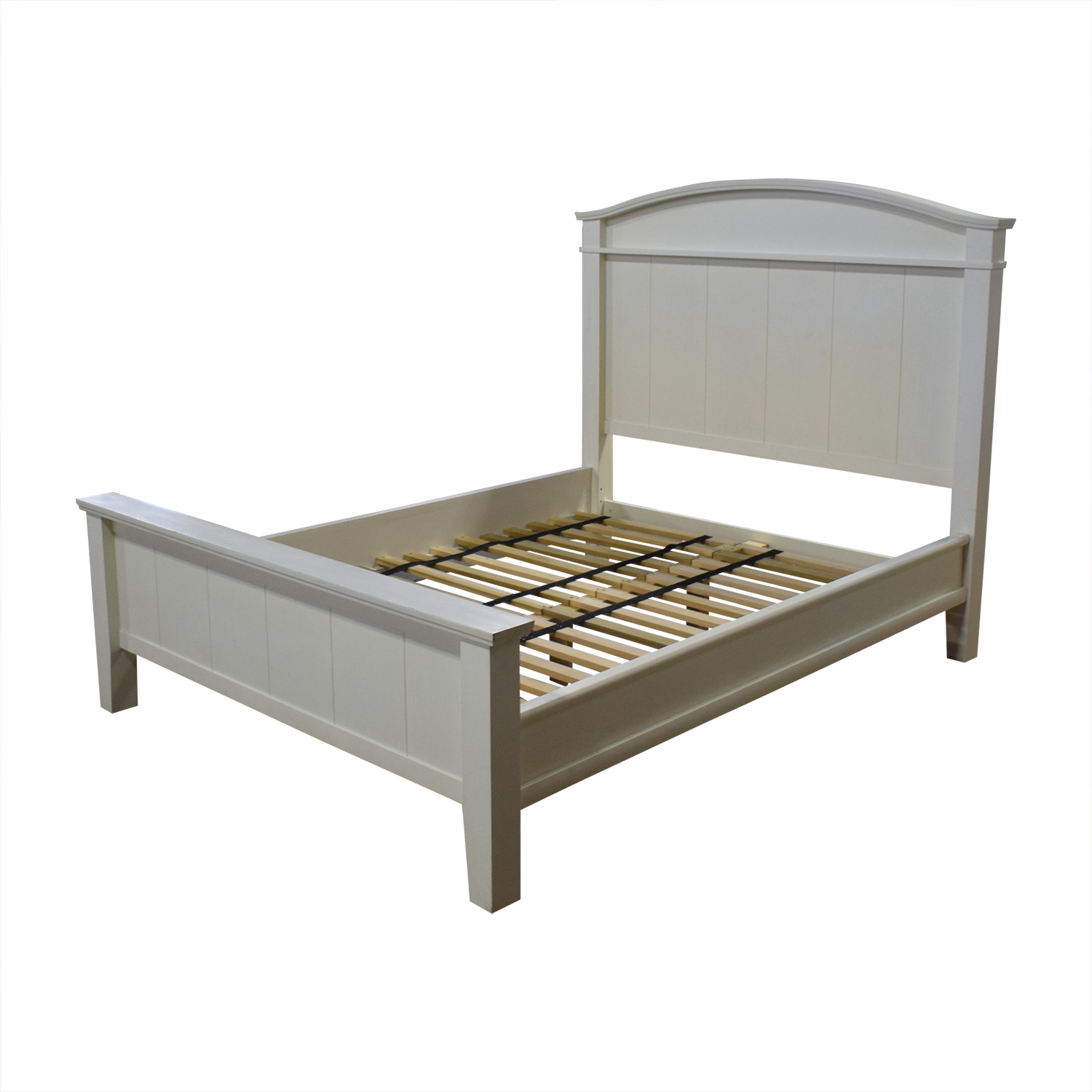 buy Pottery Barn Pottery Barn White Farmhouse Queen Platform Bed Frame online