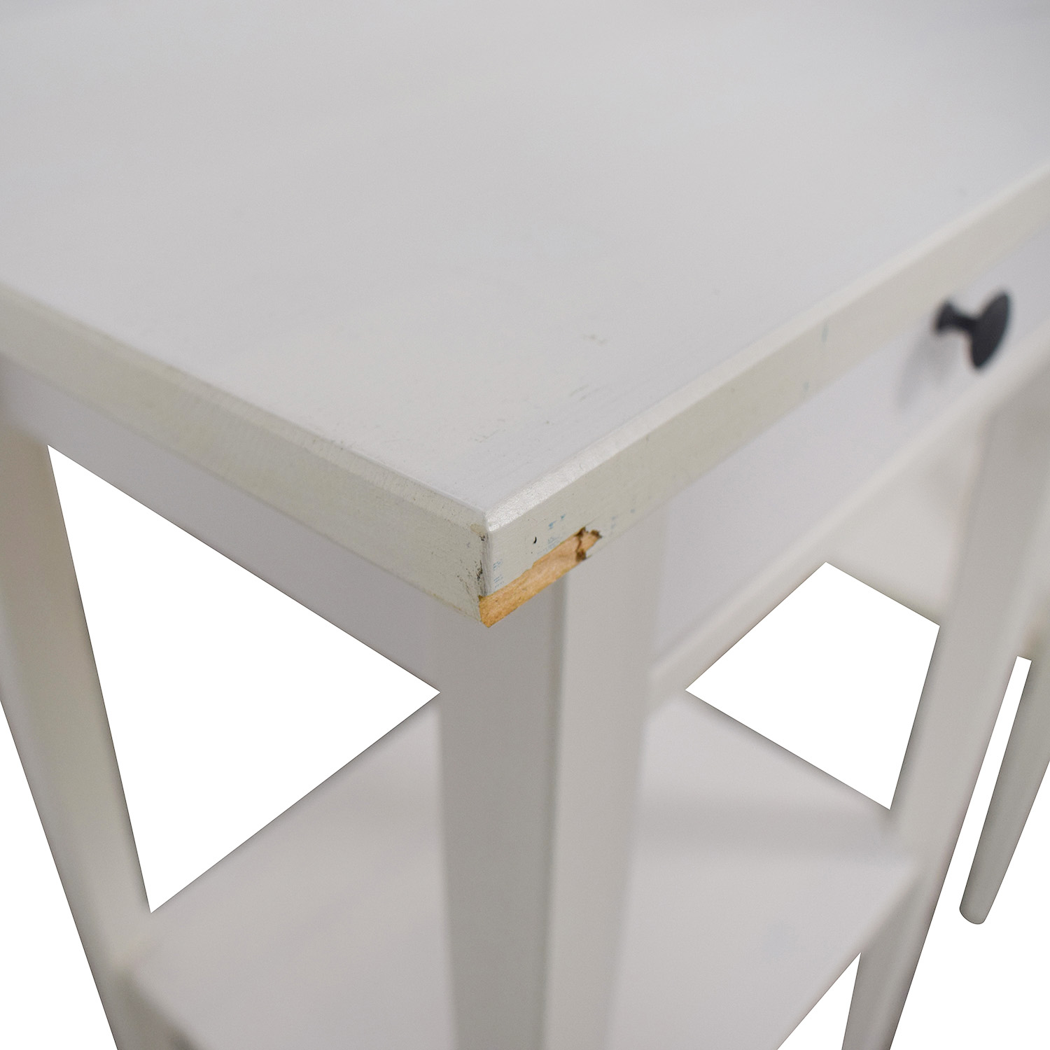 buy White Single Drawer Wood End Tables