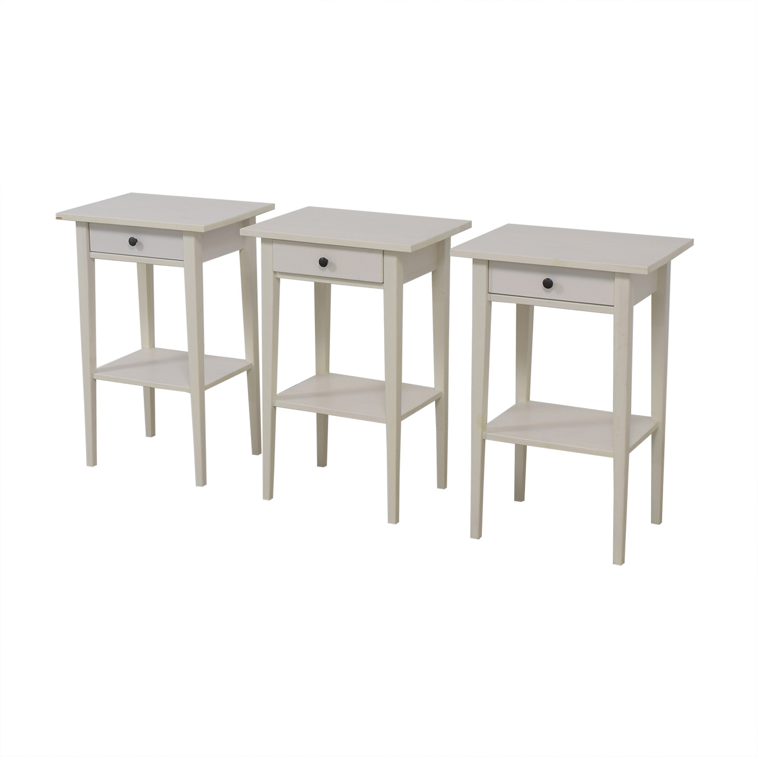 shop White Single Drawer Wood End Tables  End Tables