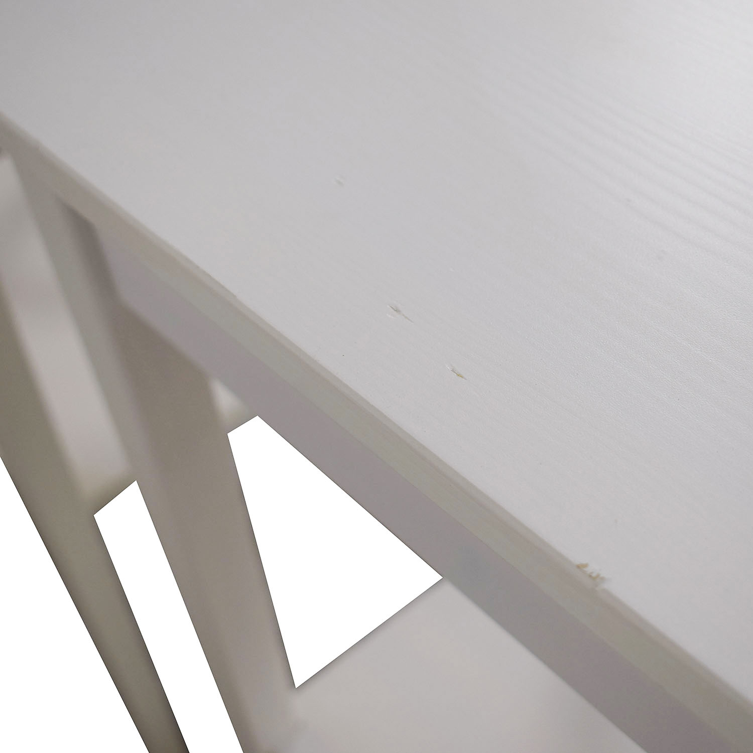 White Single Drawer Wood End Tables second hand