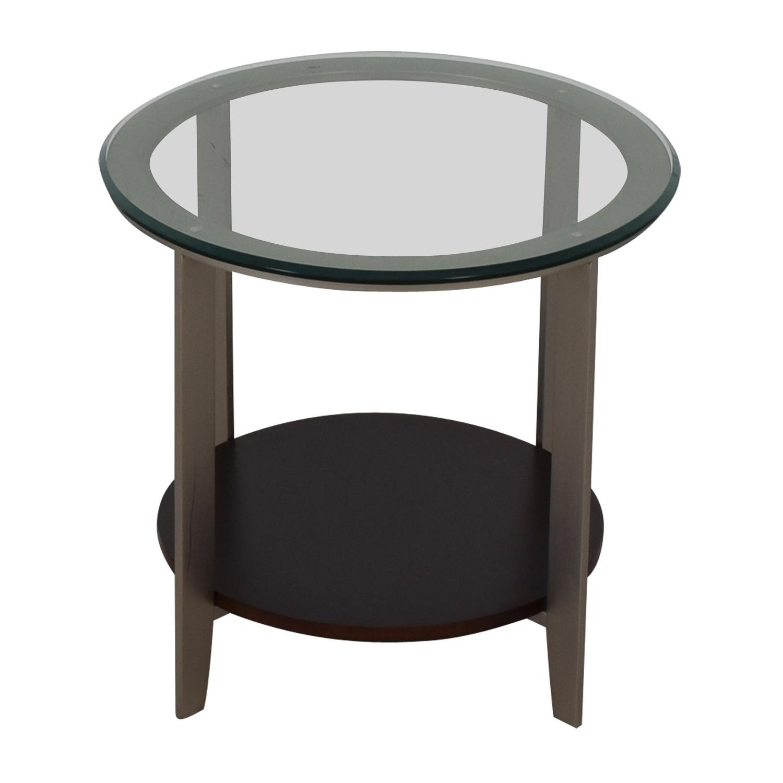 shop Ethan Allen Elements Glass Top End Table Ethan Allen Tables