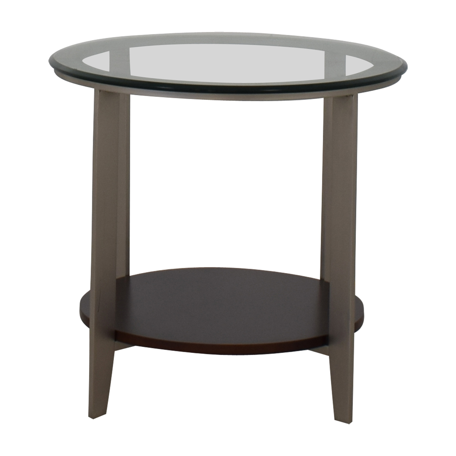 Ethan Allen Elements Glass Top End Table sale
