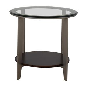 Ethan Allen Ethan Allen Elements Glass Top End Table discount