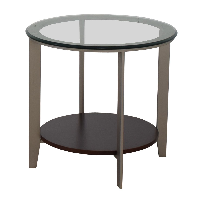 Ethan Allen Ethan Allen Elements Glass Top End Table for sale