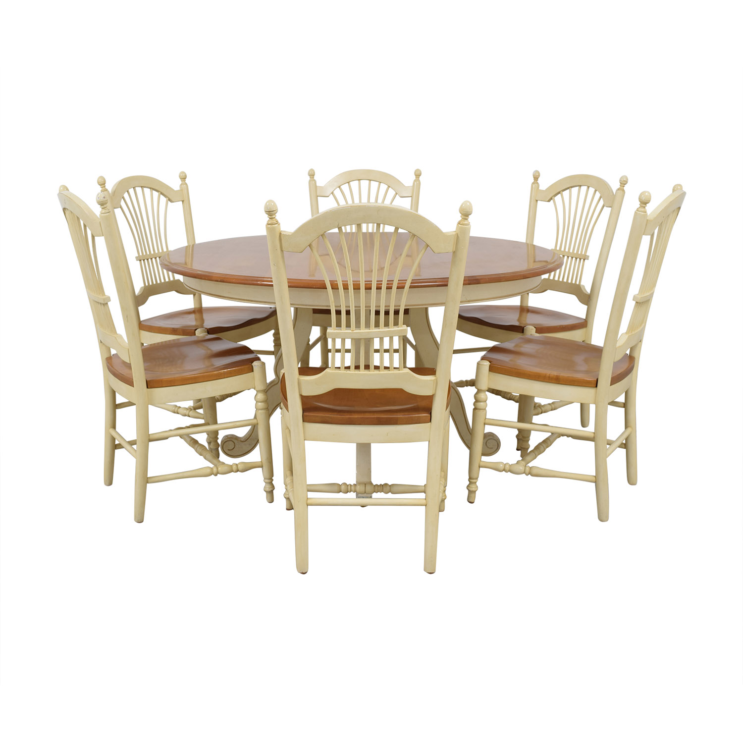 43 Off Ethan Allen Ethan Allen Country French Dining Set Tables