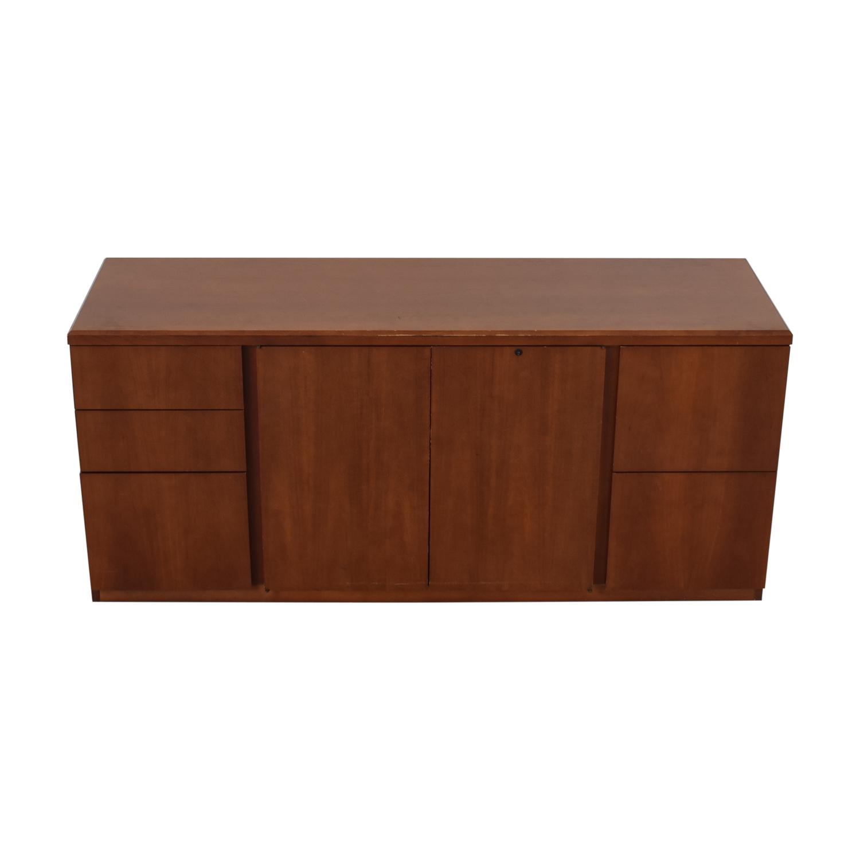 Gunlocke Company Gunlocke Company Five Drawer Wood Credenza nj