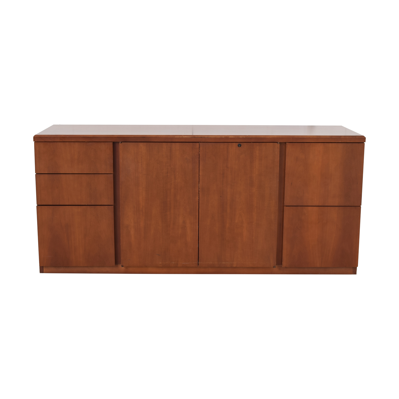 Gunlocke Company Five Drawer Wood Credenza / Storage