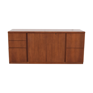 Gunlocke Company Gunlocke Company Five Drawer Wood Credenza discount