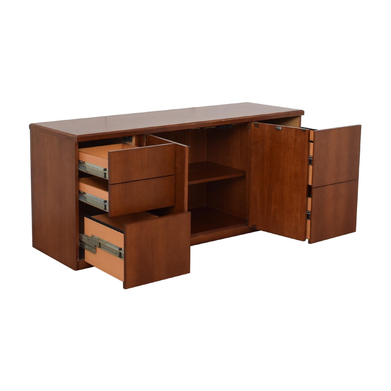 shop Gunlocke Company Gunlocke Company Five Drawer Wood Credenza online