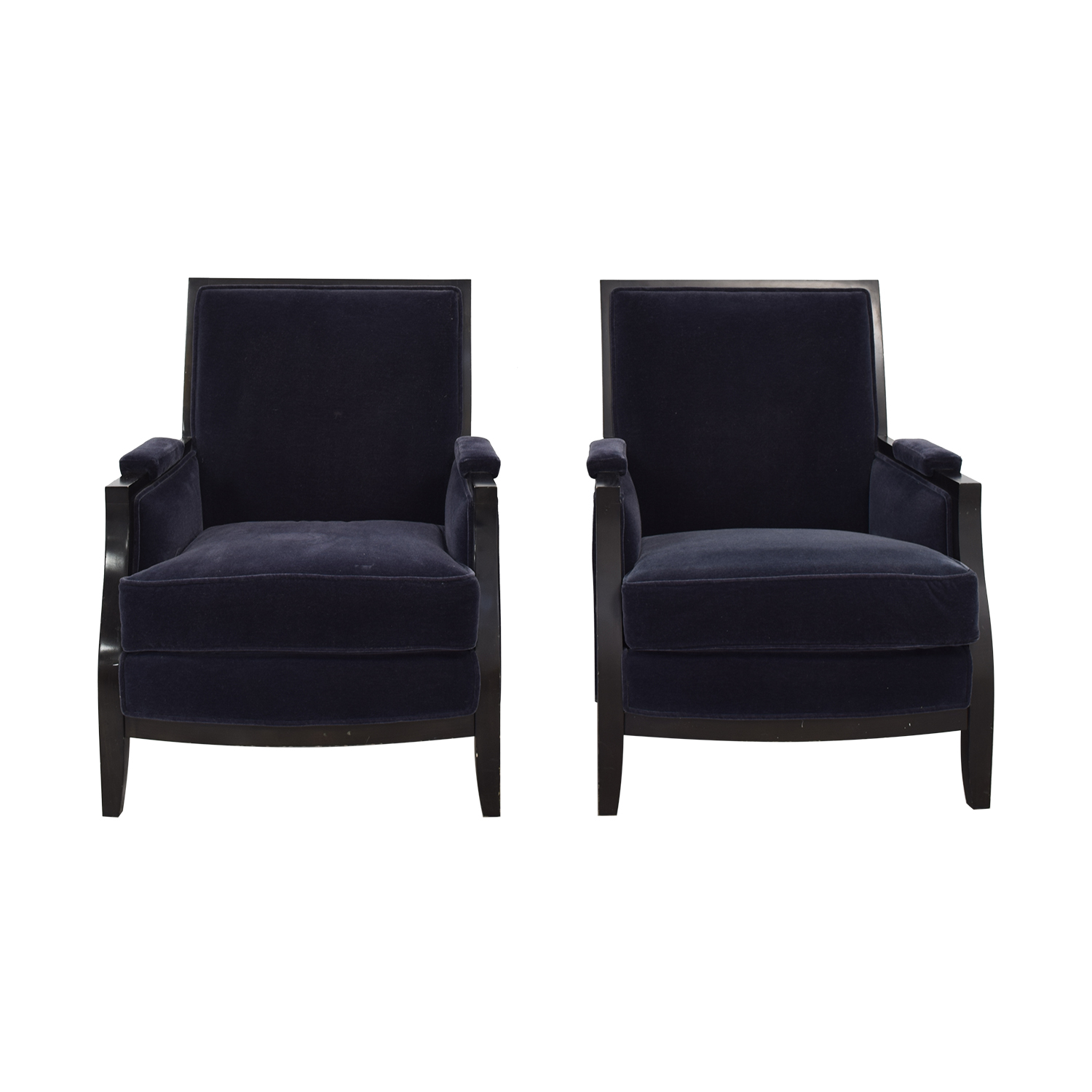 Buy Todd Hase Blue Vincent Bergere Chairs Todd Hase Chairs