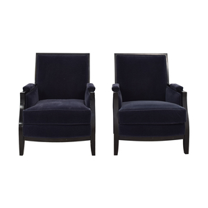 Todd Hase Todd Hase Blue Vincent Bergere Chairs Chairs