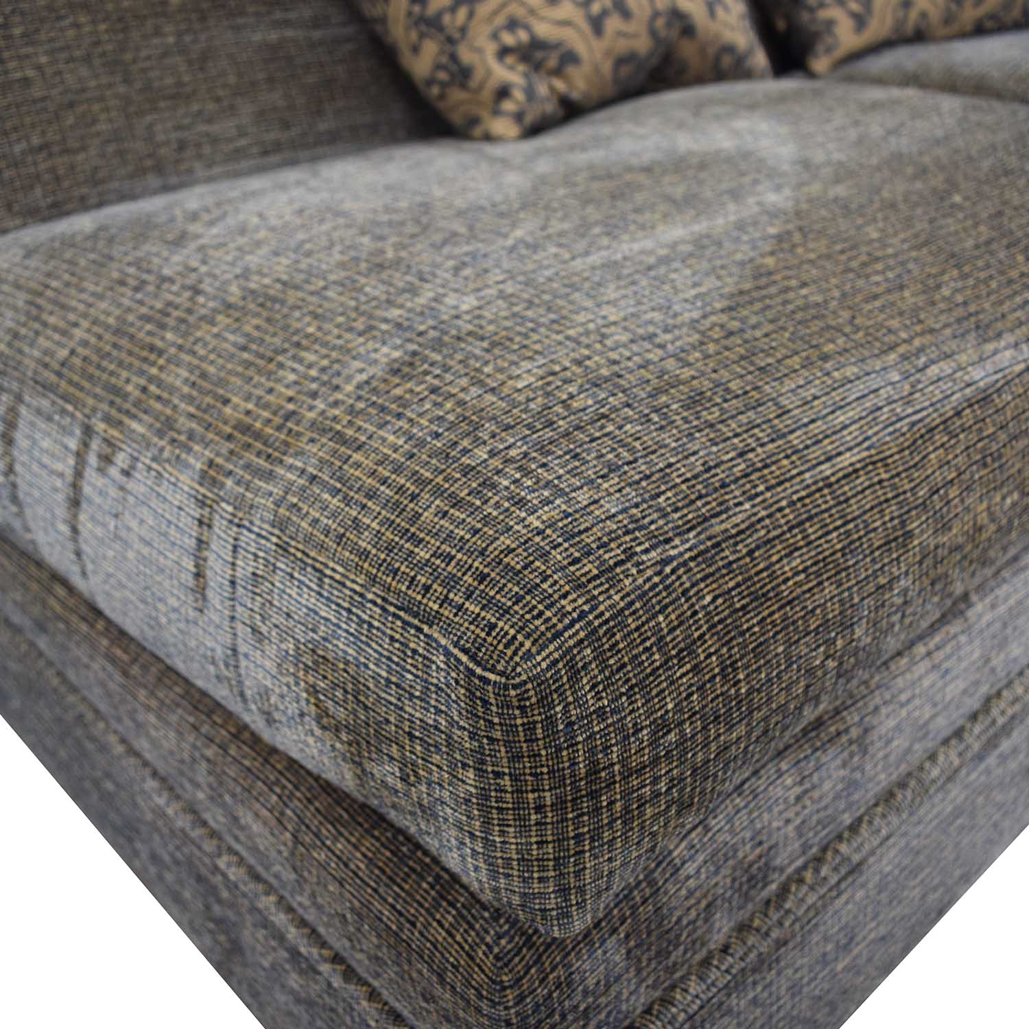 buy Todd Hase Grey Armless Loveseat Todd Hase Classic Sofas