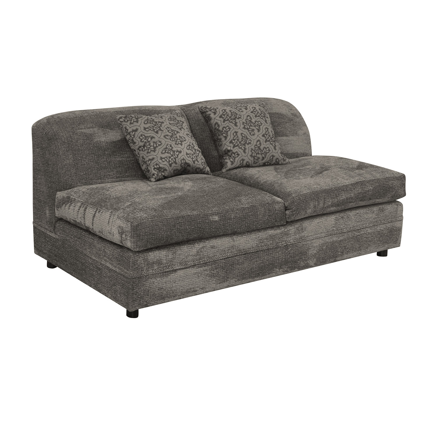 Todd Hase Todd Hase Grey Armless Loveseat coupon