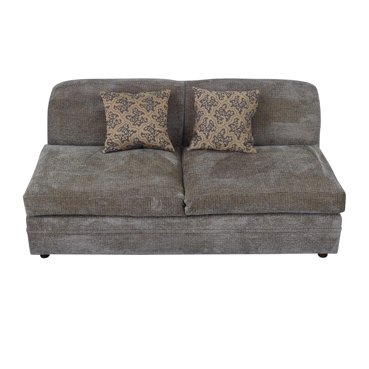 shop Todd Hase Todd Hase Grey Armless Loveseat online