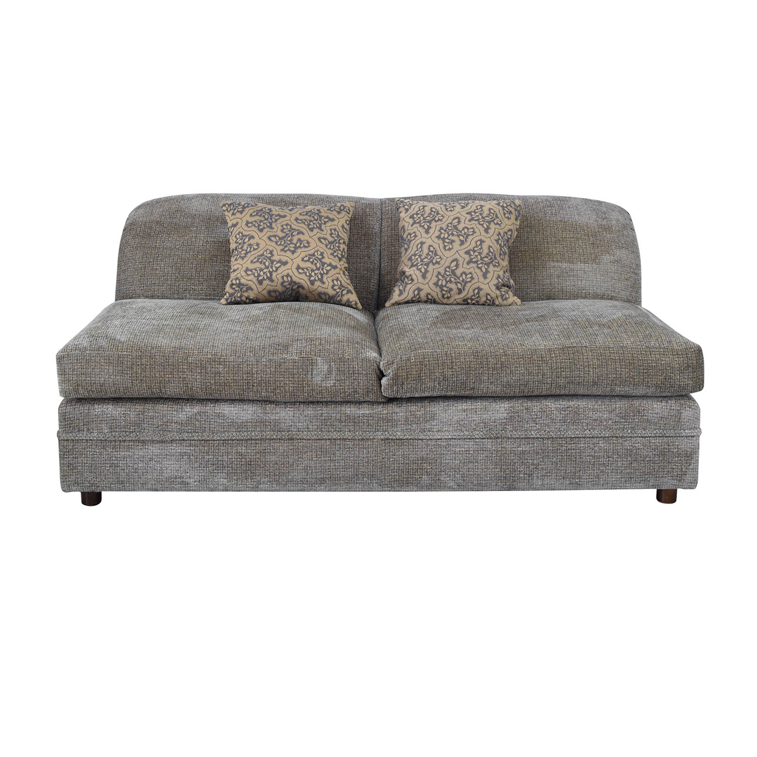 buy Todd Hase Grey Armless Loveseat Todd Hase