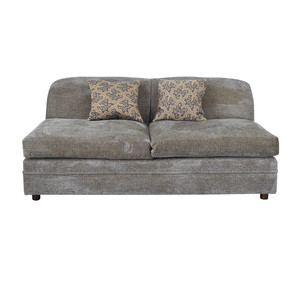 Todd Hase Todd Hase Grey Armless Loveseat second hand