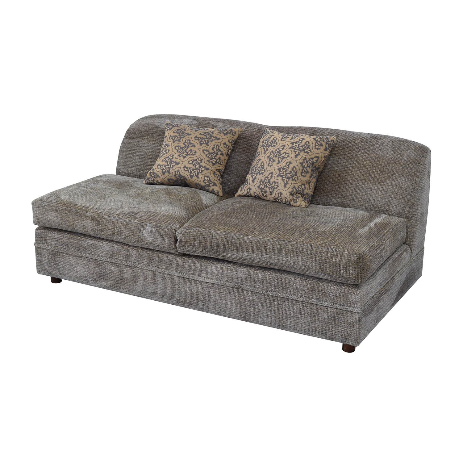 buy Todd Hase Todd Hase Grey Armless Loveseat online