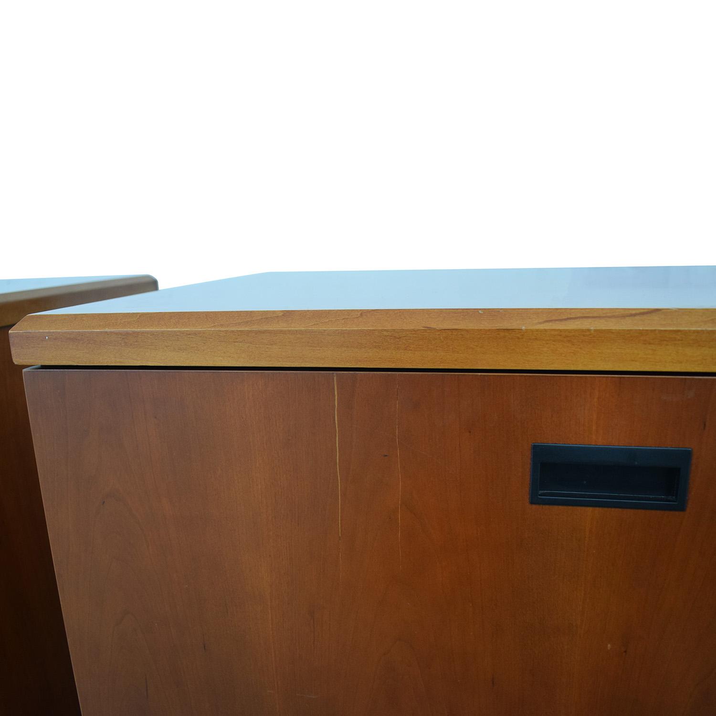 buy Gunlocke Company Wood Two-Drawer Filing Cabinet Gunlocke Company