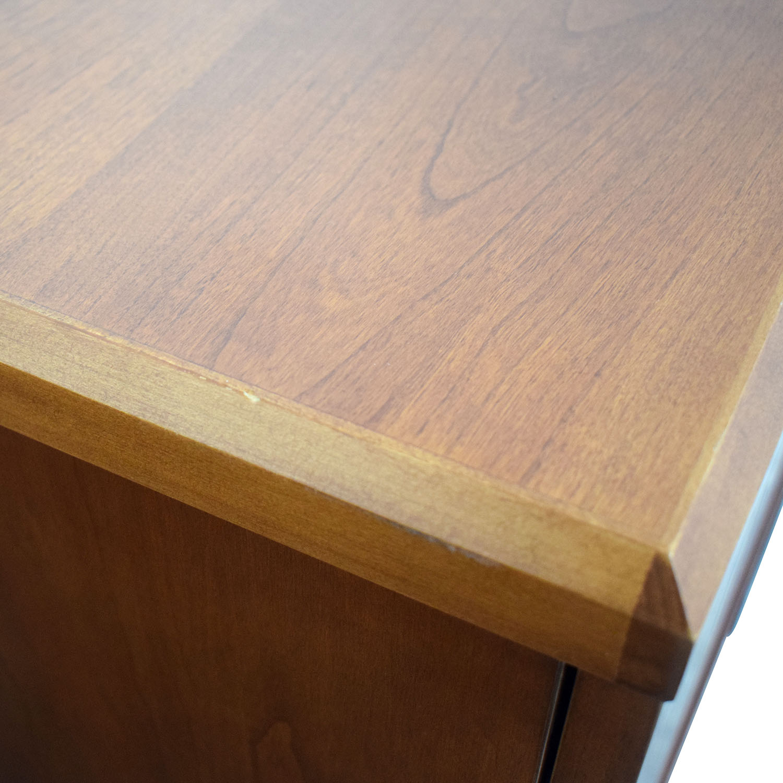 Gunlocke Company Wood Two-Drawer Filing Cabinet Gunlocke Company