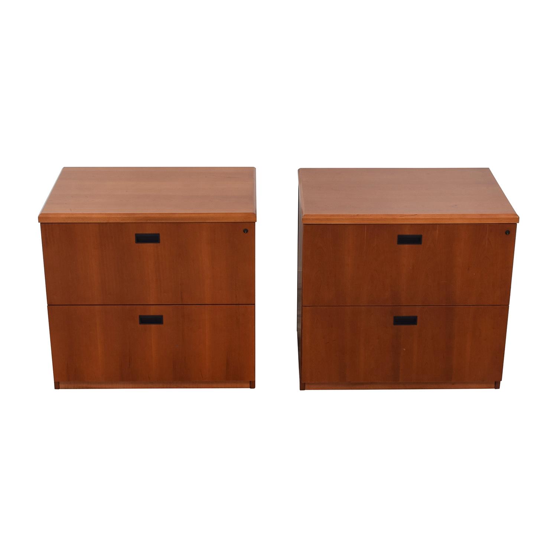 shop Gunlocke Company Gunlocke Company Wood Two-Drawer Filing Cabinet online