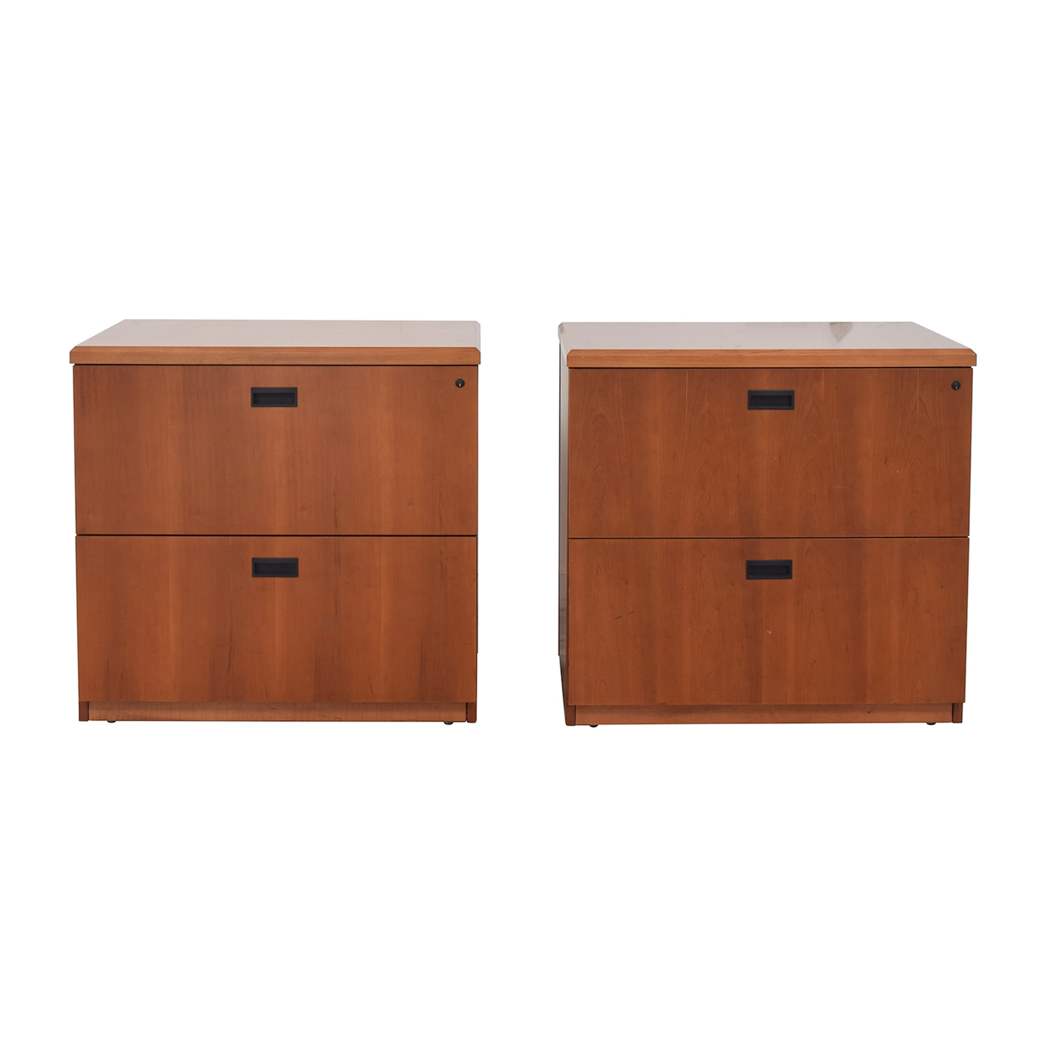 shop Gunlocke Company Wood Two-Drawer Filing Cabinet Gunlocke Company Storage