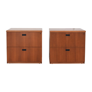 Gunlocke Company Gunlocke Company Wood Two-Drawer Filing Cabinet second hand
