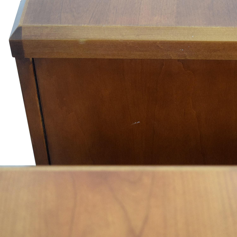 Gunlocke Company Wood Two-Drawer Filing Cabinet / Filing & Bins