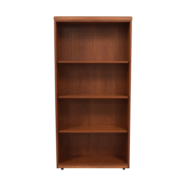 buy Gunlocke Wood Bookshelf Gunlocke Storage