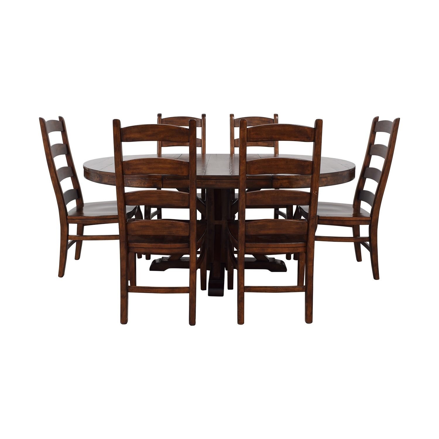 Pottery Barn Pottery Barn Benchwright Extending Pedestal Dining Set nyc