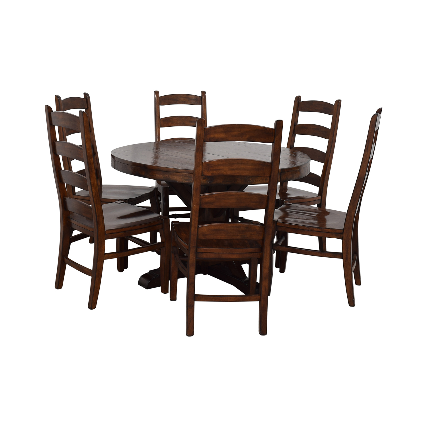 Pottery Barn Pottery Barn Benchwright Extending Pedestal Dining Set on sale
