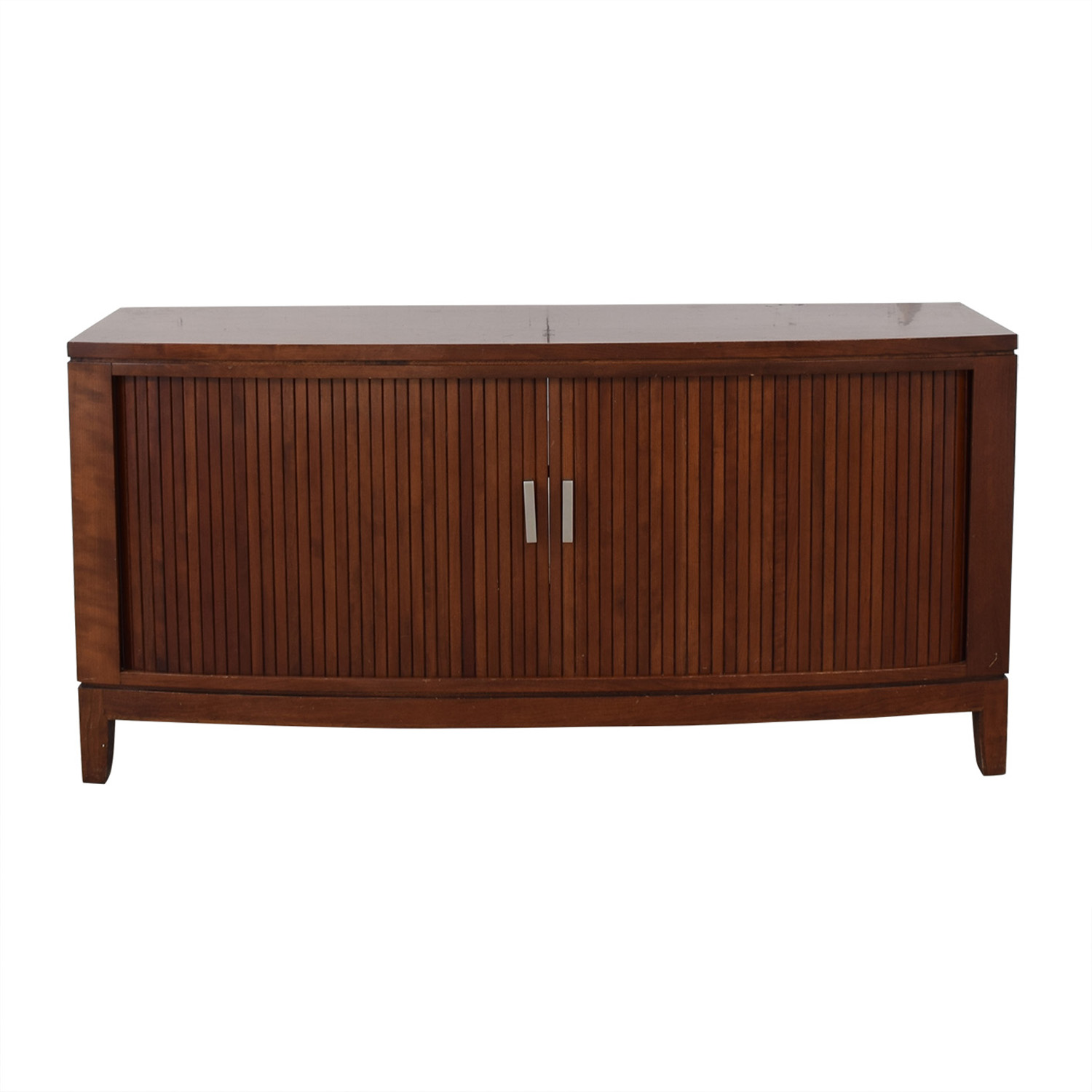 Media Console With Sliding Doors Brown