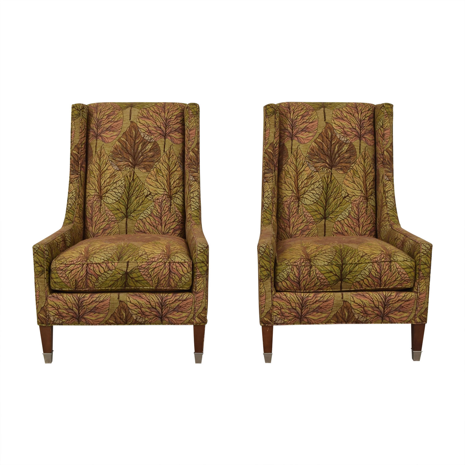 Kravet Kravet Furniture Multi-Colored Upholstered High Back Chairs discount