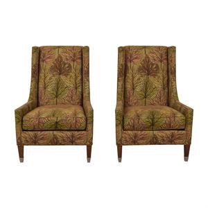 Kravet Kravet Furniture Multi-Colored Upholstered High Back Chairs second hand