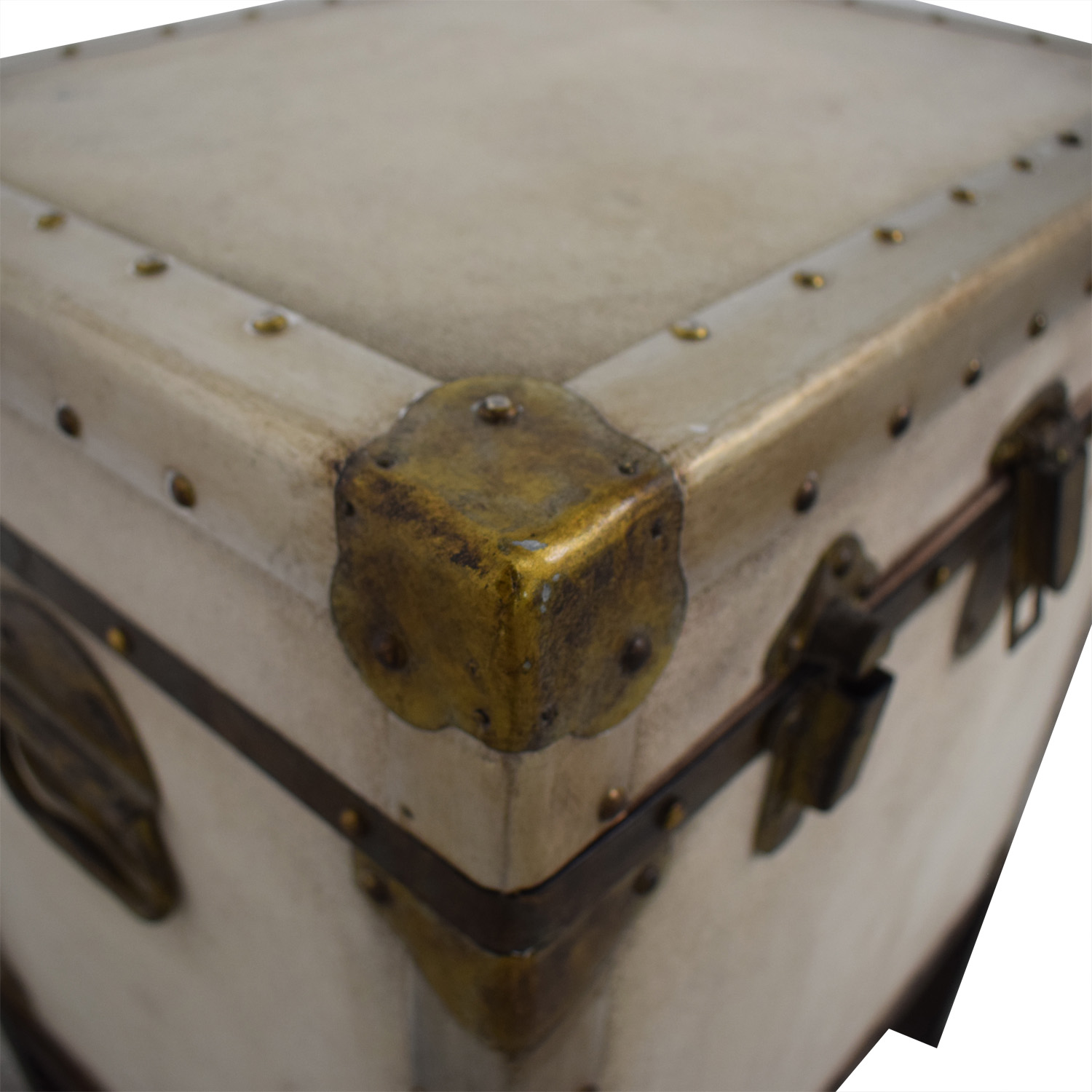 shop Pottery Barn Storage Trunk End Table Pottery Barn
