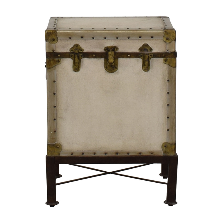 Pottery Barn Pottery Barn Storage Trunk End Table for sale