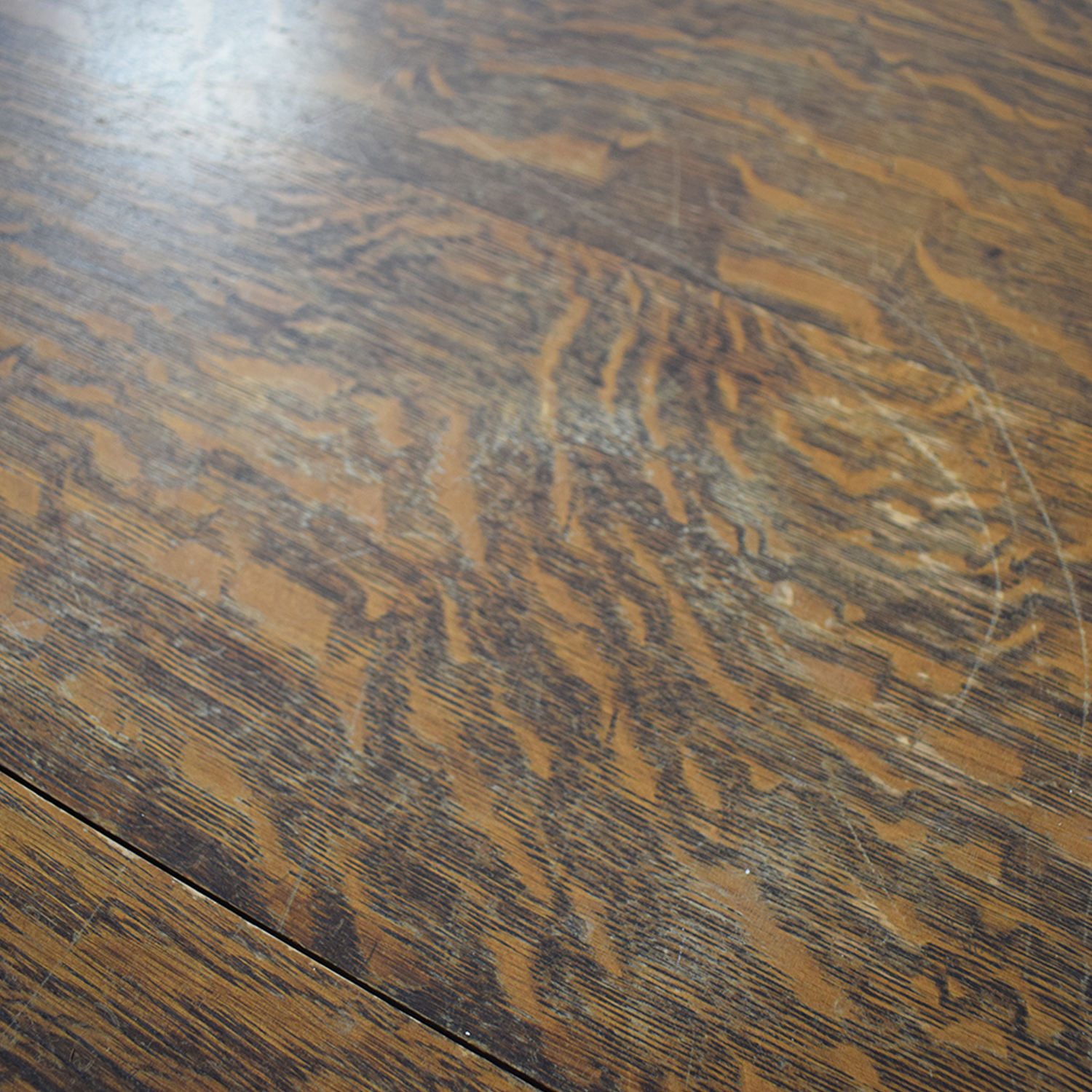 Antique Wood Extendable Dining Table used