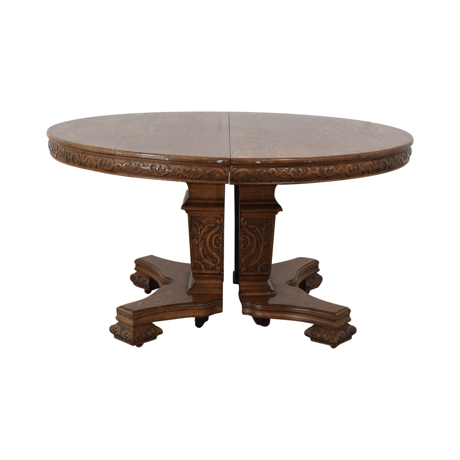 Antique Wood Extendable Dining Table / Dinner Tables