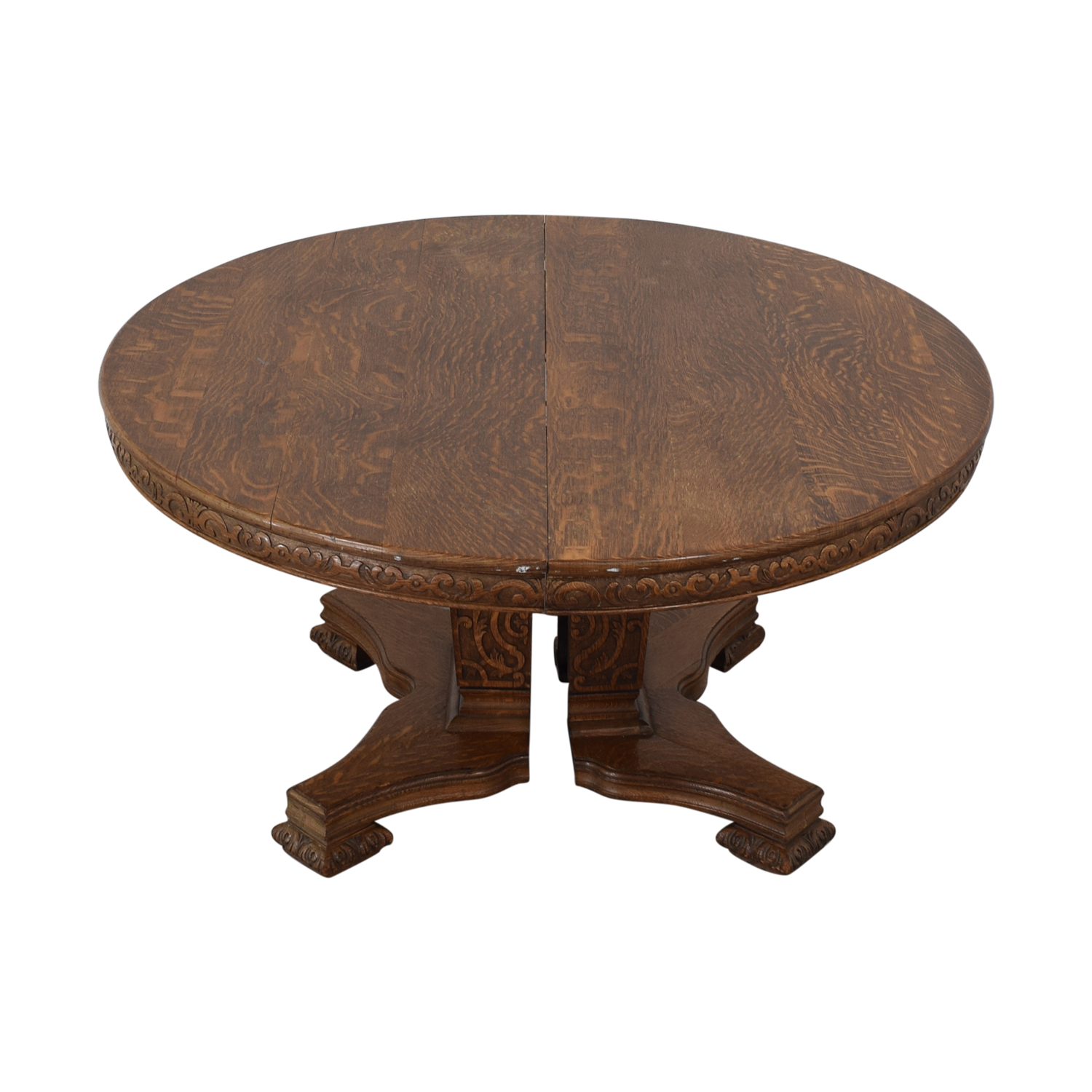 Antique Wood Extendable Dining Table sale