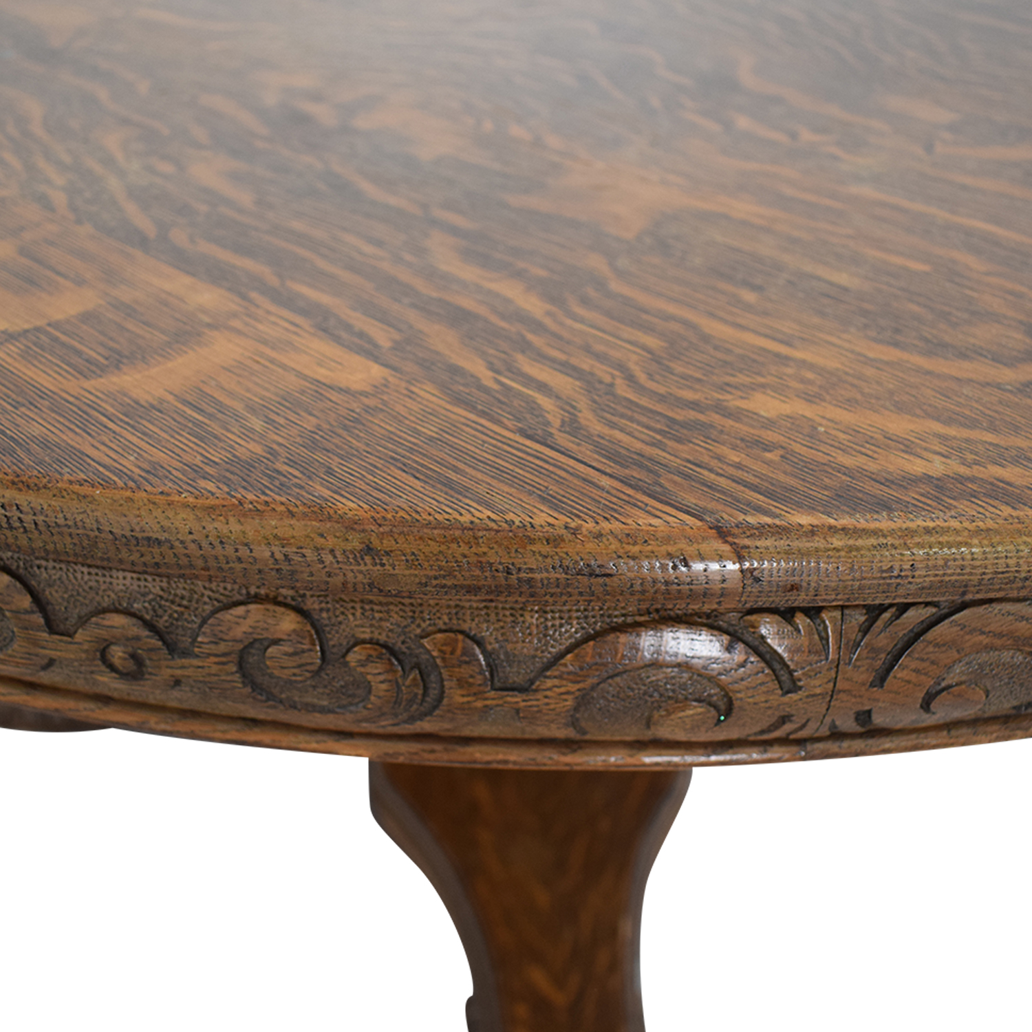 Antique Wood Extendable Dining Table on sale