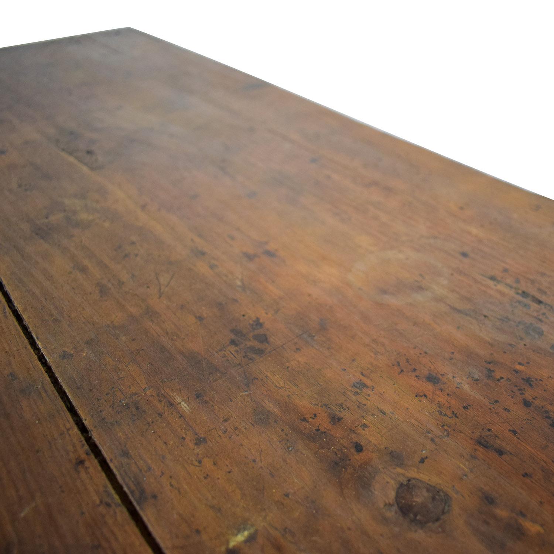buy Antique Wood Three-Drawer Hutch